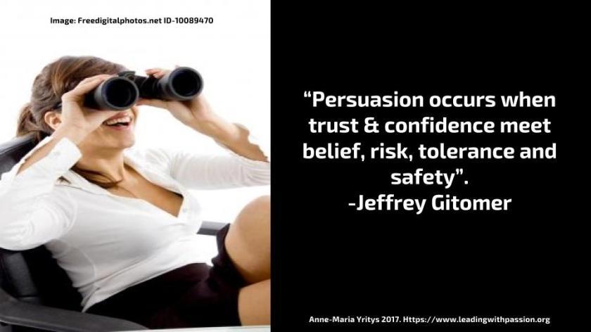 Persuasion and teamwork