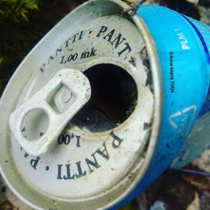 Old aluminium can